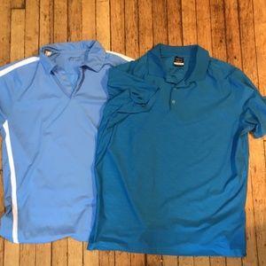 Nike Shirts - XL Men's Lot Of 2 Nike Golf Tour Performance Dri F